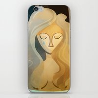 pagan iPhone & iPod Skins featuring Sad Pagan by Anniz