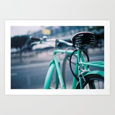 Riding Backwards Art Print