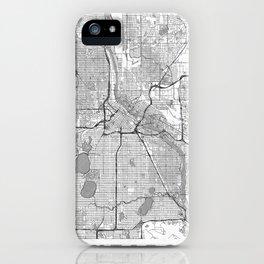 Minneapolis Map Line iPhone Case