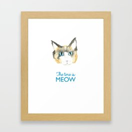 The Time is Meow Framed Art Print