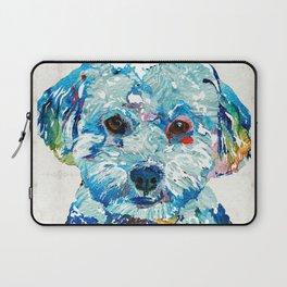 Small Dog Art - Soft Love - Sharon Cummings Laptop Sleeve