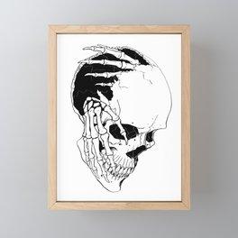 Skull (Creeping Hands) Framed Mini Art Print