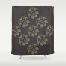 AT FLOWER B Shower Curtain