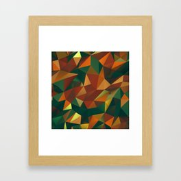 Polygonal Jammer Framed Art Print