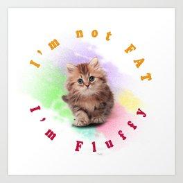 Fluffy Cat Art Print