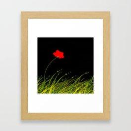 A red flower Framed Art Print