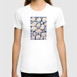 Woven Squares and Round Shapes Pattern T-shirt