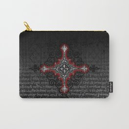 Noble House II CRUSADER RED / Grungy heraldry design Carry-All Pouch