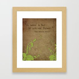 Weeds, Unloved Flowers Framed Art Print