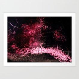 Sakura Garden print Art Print
