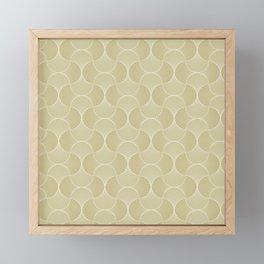 Scandinavian Floral - Art Deco Geometric Shapes Framed Mini Art Print
