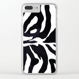 Zebra print Clear iPhone Case