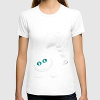cheshire T-shirts featuring Cheshire Grin by Sherry Yuan