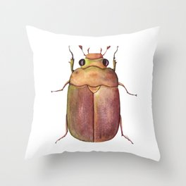 Scarabaeidae | Watercolor Scarab Throw Pillow