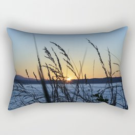 Sunset Sea Grass Rectangular Pillow