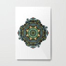 Extraterrestrial Mandala Metal Print