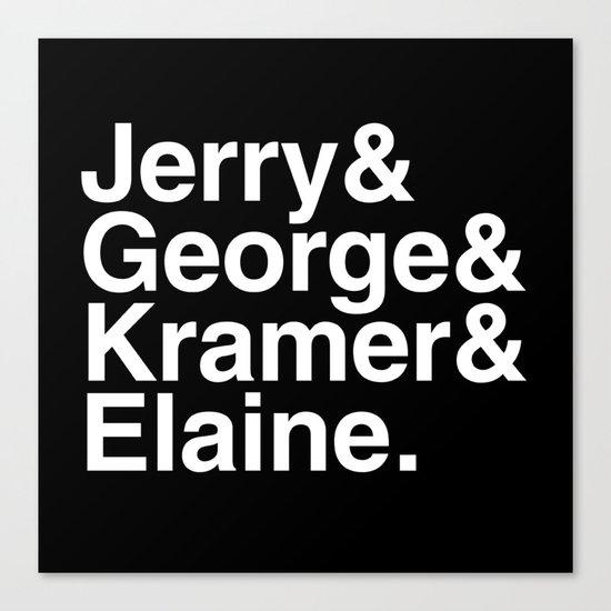 Seinfeld Jetset Canvas Print