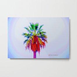 """Rainbow Palm"" Metal Print"