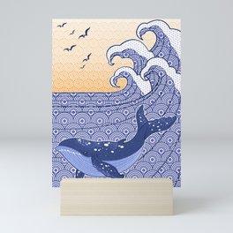 The Great Whale of Kanagawa Mini Art Print