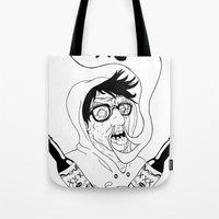 wasted rita Tote Bags featuring Wasted by derekpants