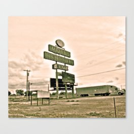 Abandoned Truck Stop Canvas Print