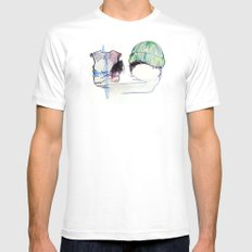Smooth MEDIUM White Mens Fitted Tee