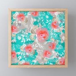 Edit Watercolor Flourish Framed Mini Art Print