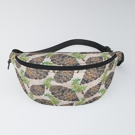 Watercolor Pine Cone Pattern Fanny Pack