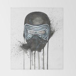 Kylo Ren - Empty Mask Throw Blanket
