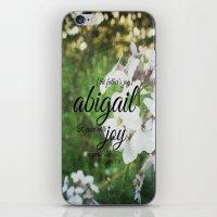 abigail larson iPhone & iPod Skins featuring Abigail by KimberosePhotography