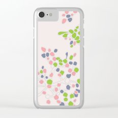 Floral abstract Clear iPhone Case