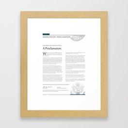 Emancipation Proclamation Framed Art Print
