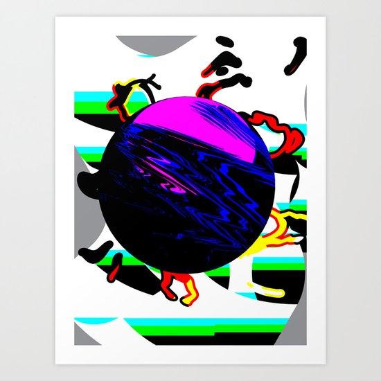 HYP3RB4LL Art Print