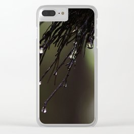 Green Drops Clear iPhone Case