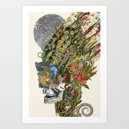 """memento mori"" anatomical collage art by bedelgeuse Art Print"