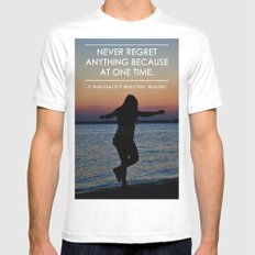 Don't Regret MEDIUM White Mens Fitted Tee