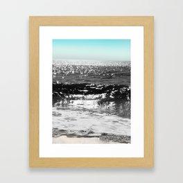 Cascading Waves Framed Art Print