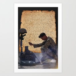 The Marine's Prayer Art Print