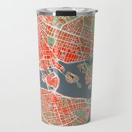 Stockholm city map classic Travel Mug