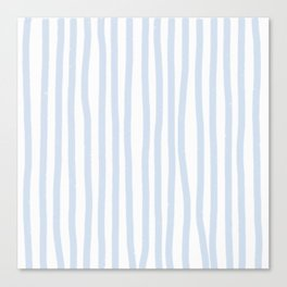 Light Blue Stripes Canvas Print