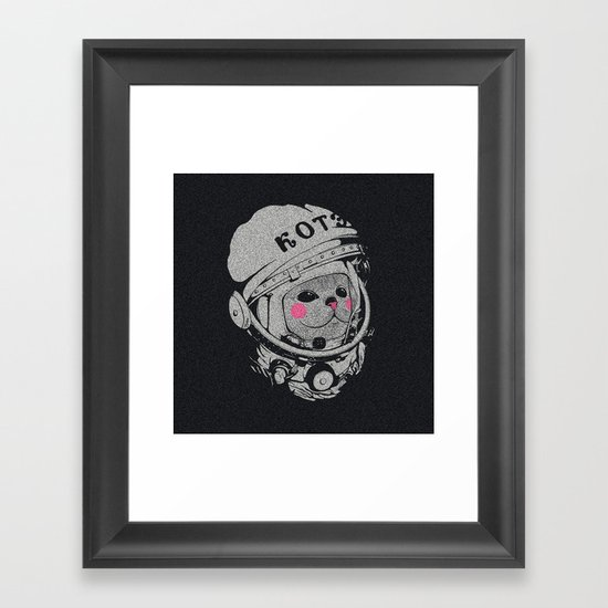 Spaceman cat Framed Art Print