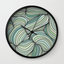 Green Lines Wall Clock