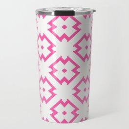 Abstract Pink Daisies Travel Mug
