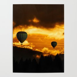 hot air ballon Poster