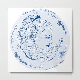 Viktoria Blu Metal Print