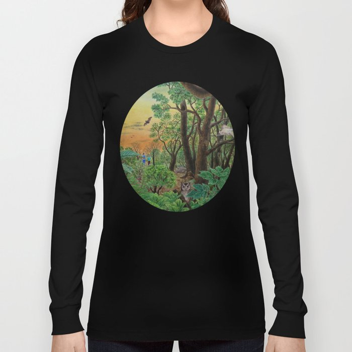 A Day of Forest (9). (the forest at night) Long Sleeve T-shirt