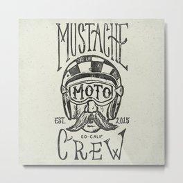 Mustache Moto Crew Metal Print