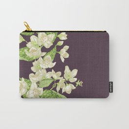 Jasmine seamless blooming branch Carry-All Pouch