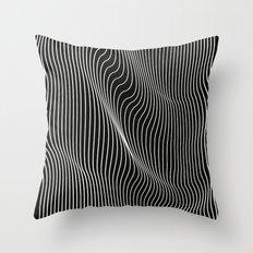 Minimal curves black Throw Pillow