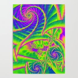 Dingle Berries Psychedelic Fractal Poster
